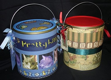 Scrapbooking Paint Tins