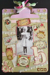 Scrapbooking Ideas - Altered Clipboard