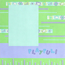 Scrapbooking Ideas - Create a Background with Border Stickers