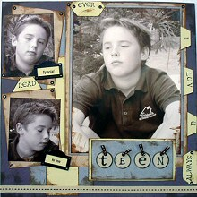 Collage Heritage Scrapbooking with Karen Foster Stickers