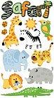 Glitter Safari Animals Stickers