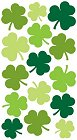 Shiny Green Clovers Stickers