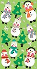 Silly Christmas Snowmen Stickers