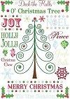 Jolly Christmas Rub-Ons W/Gems