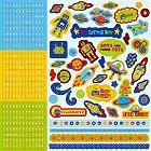 Glitter Robots Alphabet Stickers