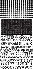 Black Teensy Type Alphabet Stickers