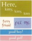 Good Cat Sayings Stickers