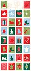 Merry Christmas Stamps Stickers