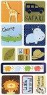 3D Safari Kids Stickers