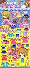 Puffy Pretty Girl Dress-Up Kawaii Stickers