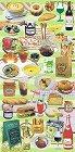 Savoury Foods Kawaii Stickers