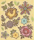 3D Heritage Flowers Stickers