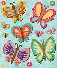 3D Sparkly Butterflies Stickers