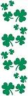 Green Shamrocks Stickers