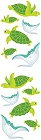 Turtles And Rays Stickers