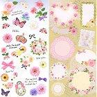 Flowers & Butterflies Kawaii Stickers