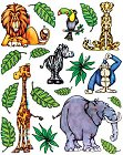 Zoo Animals Fever Stickers