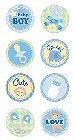 3D Sweet Baby Boy Stickers