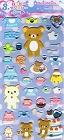 Puffy Rilakkuma March Kawaii Stickers