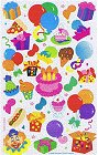 Shiny Birthday Party Stickers