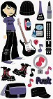 Punk Girl Stickers