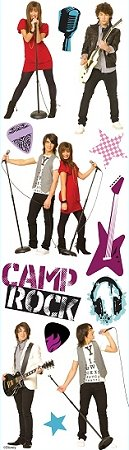 3D Camp Rock Stickers