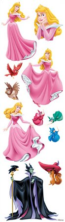 3D Sleeping Beauty Stickers