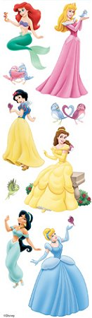 3D Disney Princesses Stickers