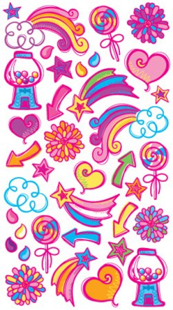 Girly Doodles Stickers
