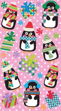 Christmas Polka Dot Penguins Stickers
