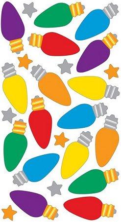 Christmas Lights Epoxy Stickers