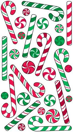 Christmas Candy Cane Epoxy Stickers