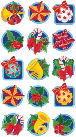 Christmas Icons Epoxy Stickers