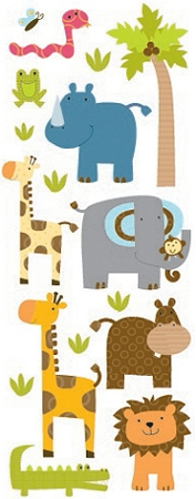 Puffy Zoo Friends Stickers