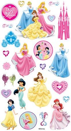 Glitter Disney Princesses Stickers