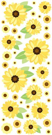Puffy Sunflowers Stickers