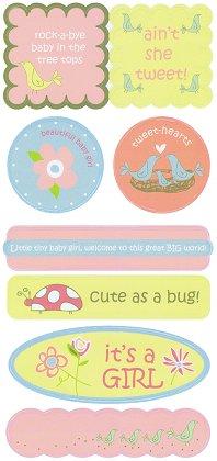 Beautiful Baby Girl Stickers