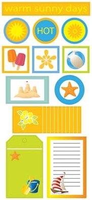 Warm Sunny Days Stickers