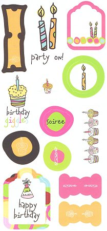 Birthday Giggles Stickers