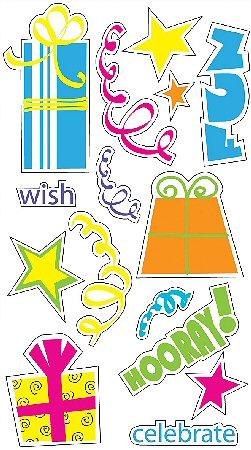 3D Birthday Celebrate Stickers