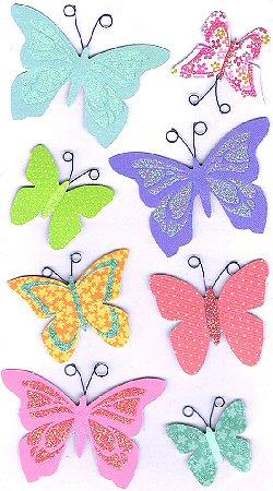 3D Bright Butterflies Stickers
