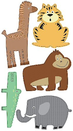 3D Zoo Animals Stickers