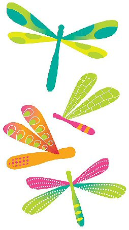 3D Bright Dragonflies Stickers