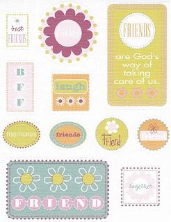 Friends Textured Stickers