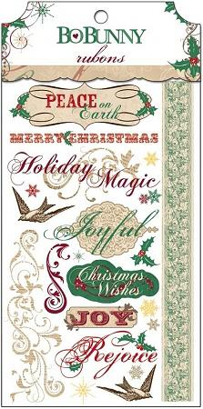 Christmas Rejoice Rub-Ons