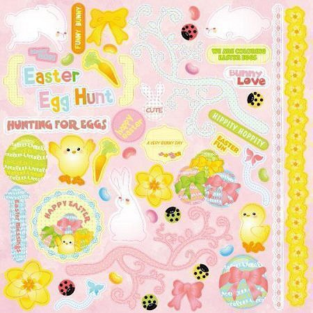 Glitter Easter Bunny Love Stickers