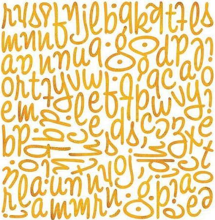 Ambrosia Orange Alphabet Stickers