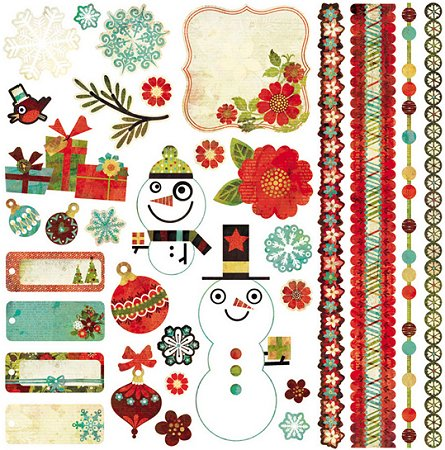Jovial Christmas Stickers