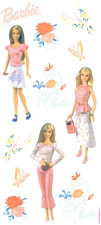 Poetry In Pink Barbie Stickers