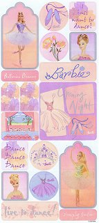 Barbie Ballerina Stickers